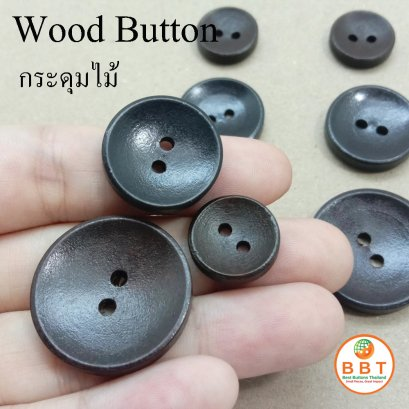 Wood Buttons 15 mm