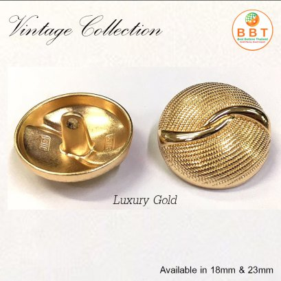 Vintage shiny gold buttons 23 mm