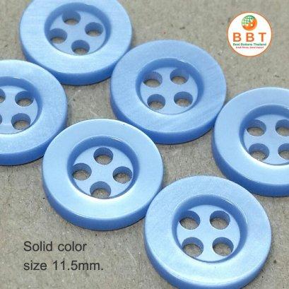 กระดุมเชิ้ตสีฟ้าอ่อน 11.5 มิล