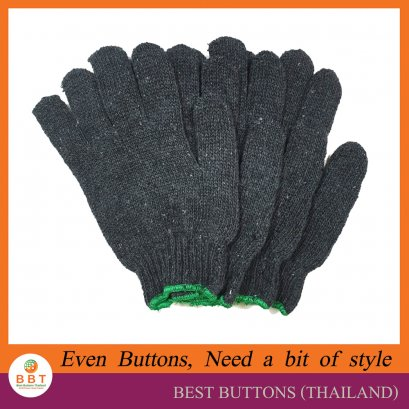 100% Grey Cotton Gloves