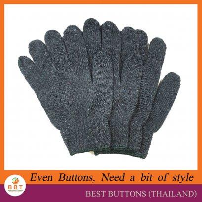 ถุงมือผ้าฝ้าย สีเทา