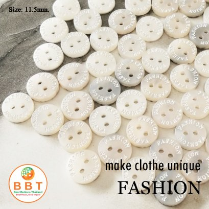 """Engraving Buttons """"FASHION"""" on MOP Buttons"""
