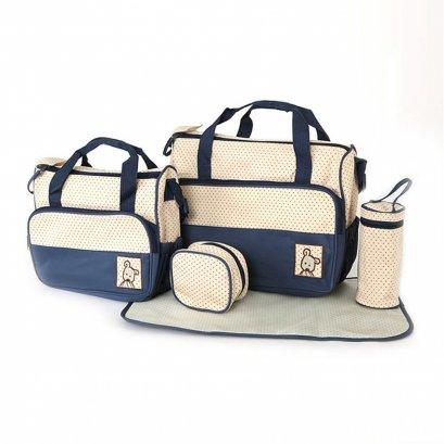กระเป๋าสัมภาระคุณแม่ เชต 5 ชิ้น สีกรมท่า