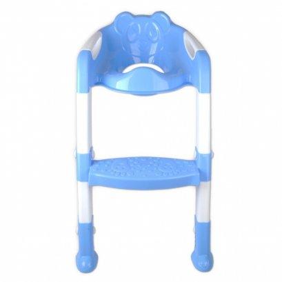 ฝารองนั่งชักโครก มีบันได สำหรับเด็กเล็ก Baby Toilet Seat with Steps (สีฟ้า)