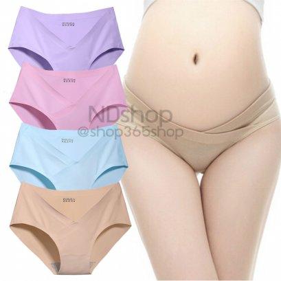 กางเกงโคซี่ กางเกงคนท้อง กางเกงในคนท้อง กางเกงเอวต่ำ แพค 4 ชิ้น (คละสี)