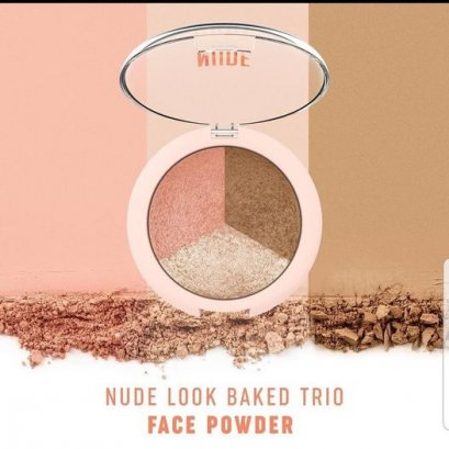 GR NUDE LOOK BAKED TRIO FACE POWDER 19.5 g.