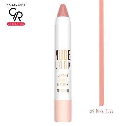 GR Nude Look Creamy Shine Lipstick 3.5g No.02