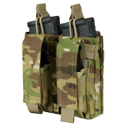Condor DOUBLE KANGAROO MAG POUCH WITH MULTICAM