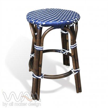 เก้าอี้บาร์หวายเทียม โครงหวายแท้