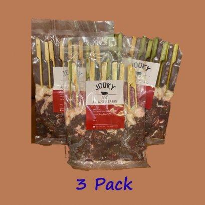 Family set จุ๊กกี้ โคขุนโพนยางคำ  รสบูลโกกิ แพ็คละ 360 g.  (บรรจุ 10 ไม้) จำนวน 3 แพ็ค