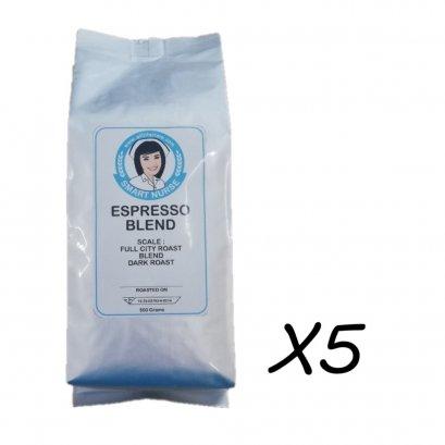 ชุดจัดหนัก 8เมล็ดกาแฟคั่ว ชุด 5 ถุง