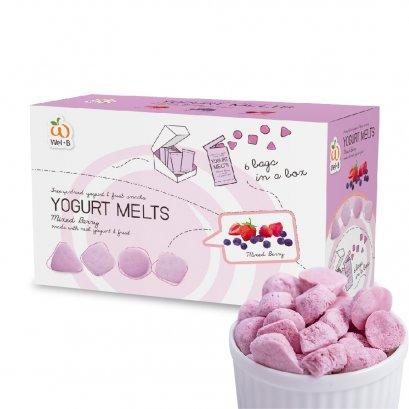 Wel-B Freeze-dried Yogurt Mixed Berry 42g.(โยเกิร์ตกรอบ รสมิกซ์เบอร์รี่ 42g) (แพ็ค 2 กล่อง)