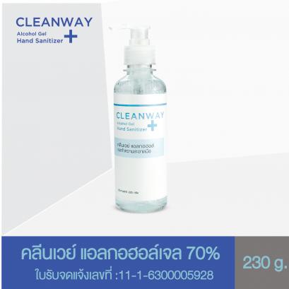 เจลล้างมือ แอลกอฮอล์เจล ทำความสะอาดมือ คลีนเวย์ CLEANWAY Alcohol Gel Hand Sanitizer 230 g.