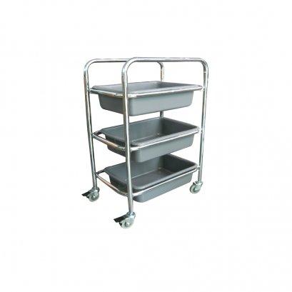 50617  รถเข็นโรงอาหาร Canteen Trolley with 3 trays