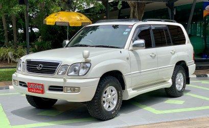 TOYOTA LAND CRUISER VX100 4.7 4WD A/T 2001 สีขาว (LZ0468)