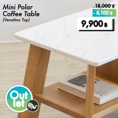 โต๊ะกลางหินอ่อน - Polar Coffee Table (Size S) (Venatino)