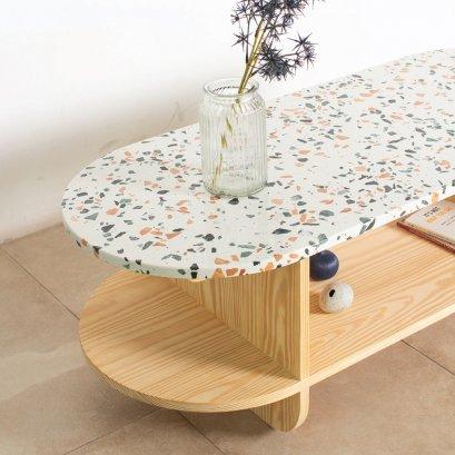 โต๊ะกลางไม้ท็อปหิน - Torrone Coffee Table