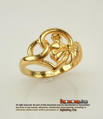 แหวนทอง 99.99 Prima Gold ขัดเงาไม่ลงทราย สวยค่ะ