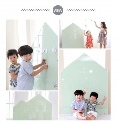 Megnetic House Whiteboard : Dew Green