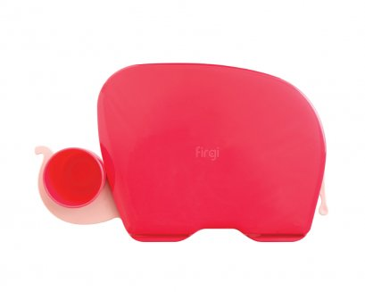 Elephant Food Tray: Coral Red