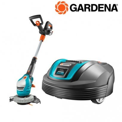 Garden Robotic Lawn Mower R40Li + Battery Trimmer ComfortCut Li-18/23R ready-to-use Set
