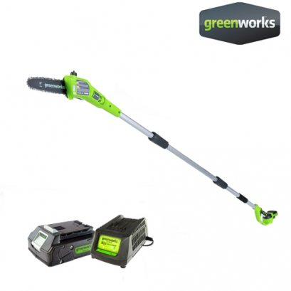 Greenworks Pole Saw 24V Including Battery and Chargere