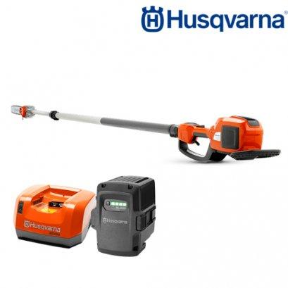 Husqvarna เครื่องตัดกิ่งไม้สูงไร้สายแบตเตอรี่ 536LiPT5 รวมแบตเตอรี่และแท่นชาร์จ