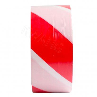TIGER เทปกั้นเขต ขนาด 70 mm. ยาว 500 m. สีขาว-แดง