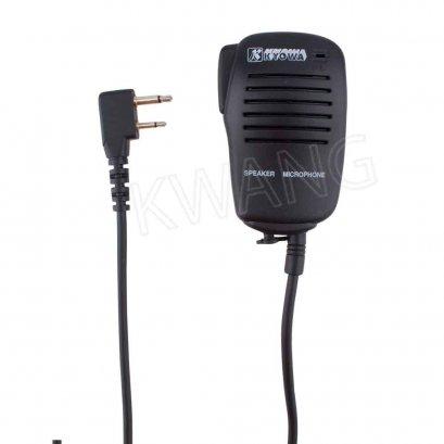 KYOWA ไมค์มือถือ คลิปเหล็ก ใช้สำหรับวิทยุสื่อสาร ICOM สีดำ