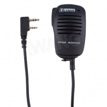 KYOWA ไมค์มือถือ ใช้สำหรับวิทยุสื่อสารแจ๊ค KENWOOD สีดำ