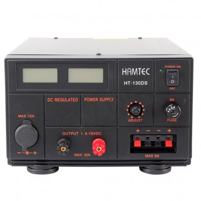 HAMTEC หม้อแปลงไฟฟ้า  HT-130DS DIGITAL 30A สีดำ