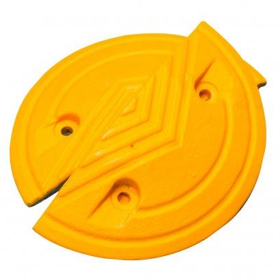 KYOWA หัวปิดยางชะลอความเร็ว  สีเหลือง