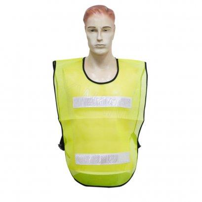 KYOWA เสื้อสะท้อนแสงตาข่ายสีเขียว 2 แถบ