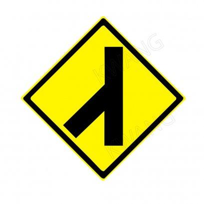 "BISON ป้ายเครื่องหมายจราจร ""ทางโทเชื่อมทางเอกจากซ้าย"" 45 cm."