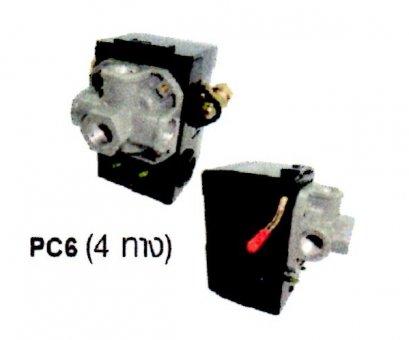 เพรชเชอร์สวิทซ์ PC6 4ทาง ยี่ห้อไฮตัน
