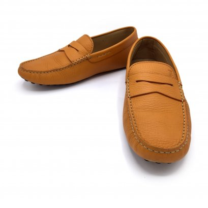 """Used TOD'S Moccasin Shoes 6.5"""" in Mustard Leather"""