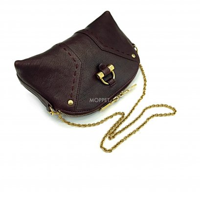 Used YSL Mini Pouch On Chain in Black Leather GHW