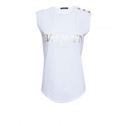 "New Balmain Tank Top 36"" in White Gold screen GHW"