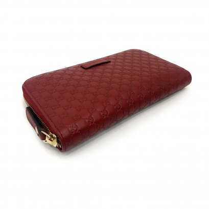 New Gucci GG Zippy Wallet in Red Leather GHW