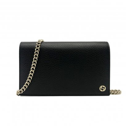 New Gucci Leather WOC in Black GHW