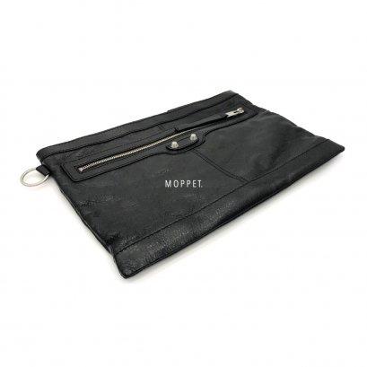 New Balenciaga Clutch Clip M In Black SHW