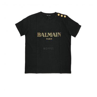 New Balmain T - Shirt in Black Gold screen