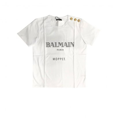 New Balmain T - Shirt in White Black screen