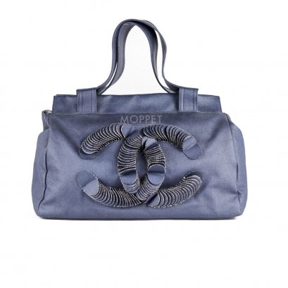 Used Chanel Jeans HandBag in Blue Jeans Danim
