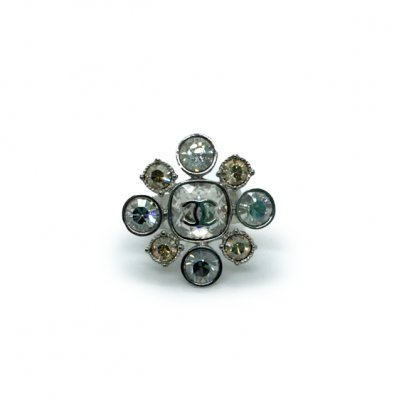 New Chanel Flower Ring in Crystal SHW