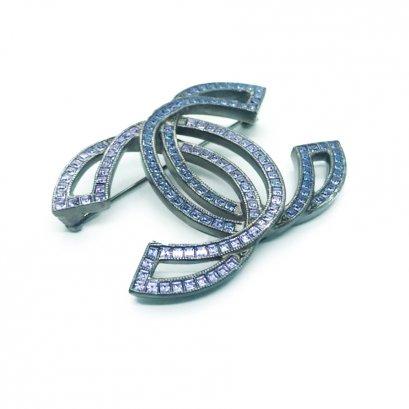 New Chanel CC Brooch 5 CM in Crystal RHW