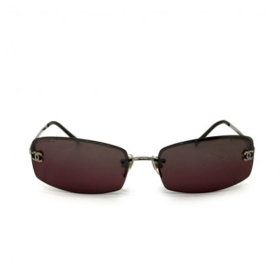 Used Chanel Sunglasses in Purple Lens SHW