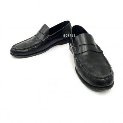 """Used LV Men's Loafers Size 6"""" in Black Leather"""