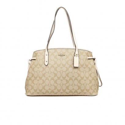 New Coach Karry All Tote in Chalk Canvas GHW