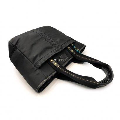 Used Coach Tote Bag in Black Nylon GHW